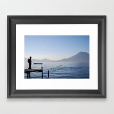 The Water Is The Same Framed Art Print