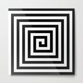 2 Color Square Spiral Metal Print