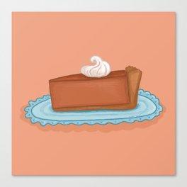 Pumpkin Pie Slice Canvas Print