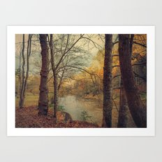 Over the River Through the Woods Art Print