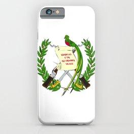 Guatemala flag emblem iPhone Case