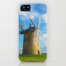 Great Haseley Windmill Impressionist Style iPhone Case
