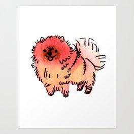 Pomelo - Dog Watercolour Art Print