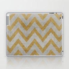 silver and gold chevron Laptop & iPad Skin
