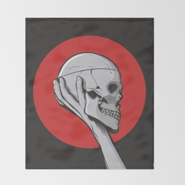 Skull Hamblet  Throw Blanket