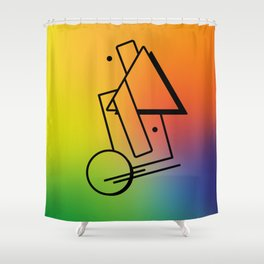 Abstract 80's Memphis Style Shower Curtain