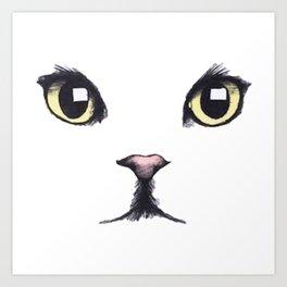 CAT---FACE Art Print