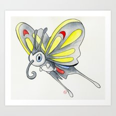 Watercolor Beautifly Art Print