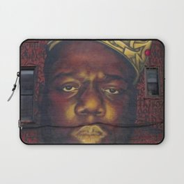"African American 'King of New York', Bedford–Stuyvesant ""Biggie"" Mural Photograph Laptop Sleeve"