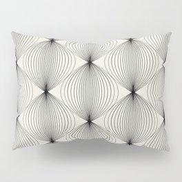 Geometric Orb Pattern - Black Pillow Sham
