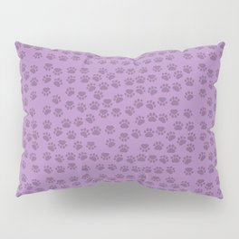 Dog Paws, Traces, Paw-prints - Purple Pillow Sham