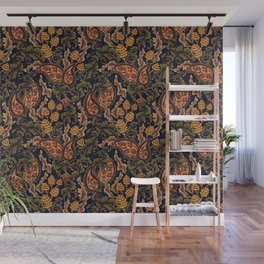 Vintage & Shabby Chic - William Morris Midnight Botanical Garden  Wall Mural
