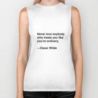 oscar wilde Biker Tanks featuring Oscar Wilde on Love by Quotevetica