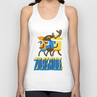 super heroes Tank Tops featuring zilasaule. super-heroes by Ilja Donets
