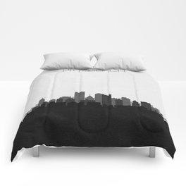City Skylines: Pittsburgh (Alternative) Comforters
