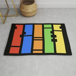 Stutter - Colorful Abstract Art Piece Rug
