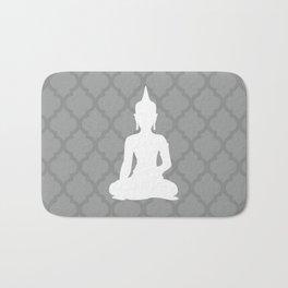 Grey and White Buddha Bath Mat