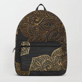 Wood Mandala - Gold Backpack