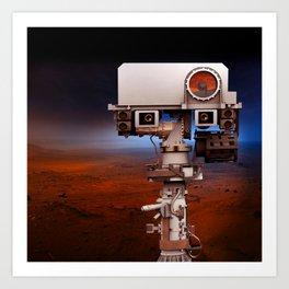 Mars Curiosity NASA Art Print