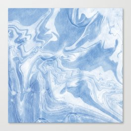 Ice Blue Marble Canvas Print