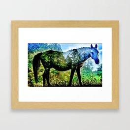 Forrest On Horseback Framed Art Print