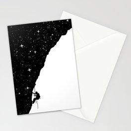 night climbing Stationery Cards