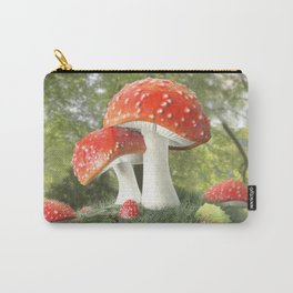 Fairy Mushroom Family Carry-All Pouch