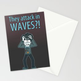 Guardian Ghost- THEY COME IN WAVES Stationery Cards