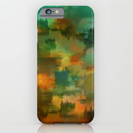 """""""Abstract forest in Autumn"""" iPhone Case"""