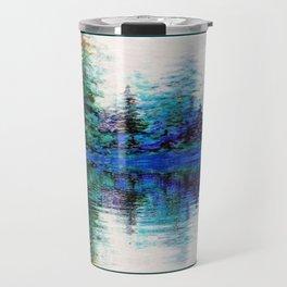 BLUE MOUNTAIN TREES & LAKE REFLECTION Travel Mug