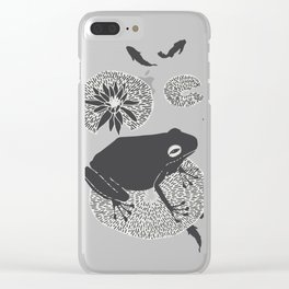 Frog on a Lily Pad No Colour Clear iPhone Case