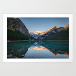 Lake Louise Sunrise Reflection Canadian Rockies Banff National Park Landscape  Art Print