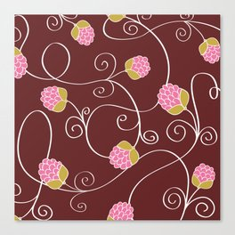 Raspberry Patch Red Canvas Print