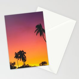 Sunset Palm Trees Stationery Cards