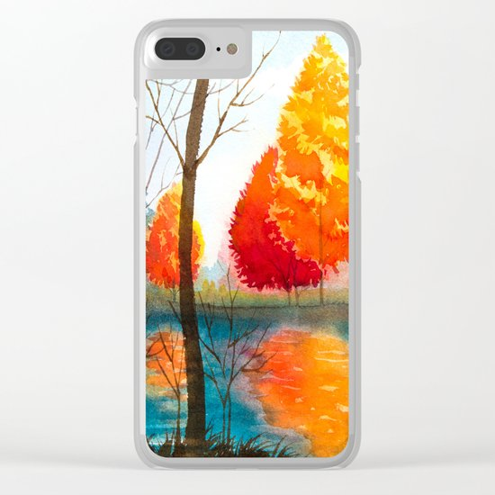 Autumn scenery #5 Clear iPhone Case