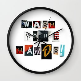 Anonymous Threatening Letter: Wash your Hands – Fight the Epidemic Wall Clock
