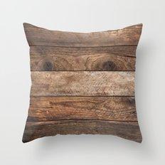 Vintage Wood Throw Pillow