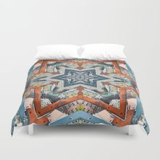 Abstract Geometric Structures Duvet Cover