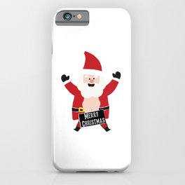 Merry Christmas Drunk Naughty Santa Claus Funny iPhone Case