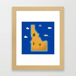 Idaho Island Framed Art Print