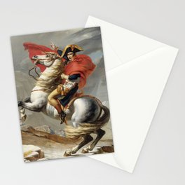 Bonaparte Crossing the Grand Saint-Bernard Pass by Jacques Louis David Stationery Cards
