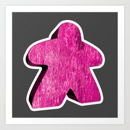 Giant Pink Meeple Art Print