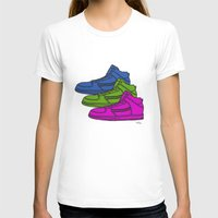sneakers T-shirts featuring Colorful sneakers by YTRKMR
