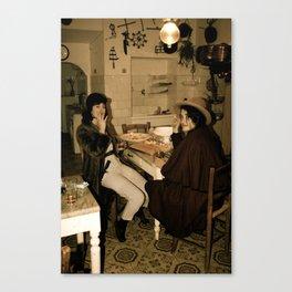 old-world dress up Canvas Print
