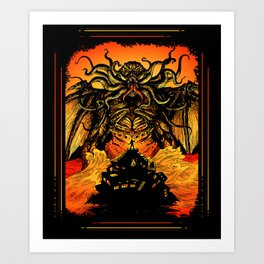 Winged God Monster Art Print