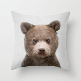 Baby Bear - Colorful Throw Pillow