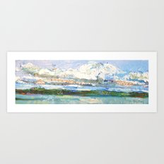 Clouds over the Loch Art Print