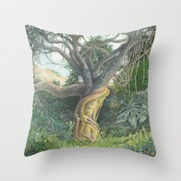 My Back Garden Throw Pillow