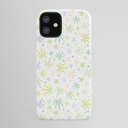 Cute Pastel Cannabis Pattern iPhone Case
