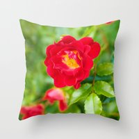 moulin rouge Throw Pillows featuring ROUGE by Allison Newcomer